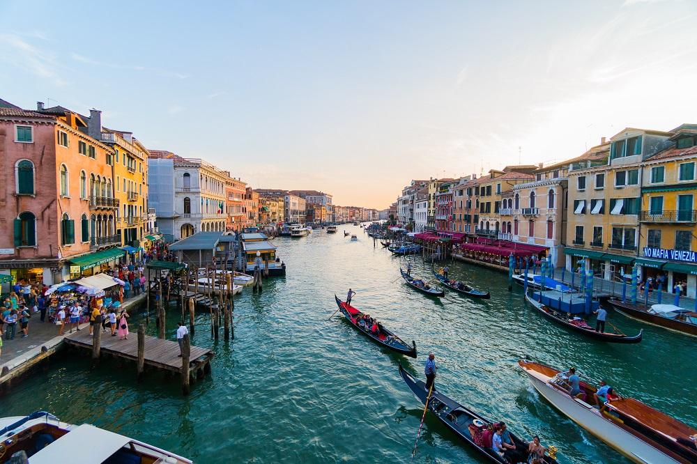 Venetian Canal in Italy