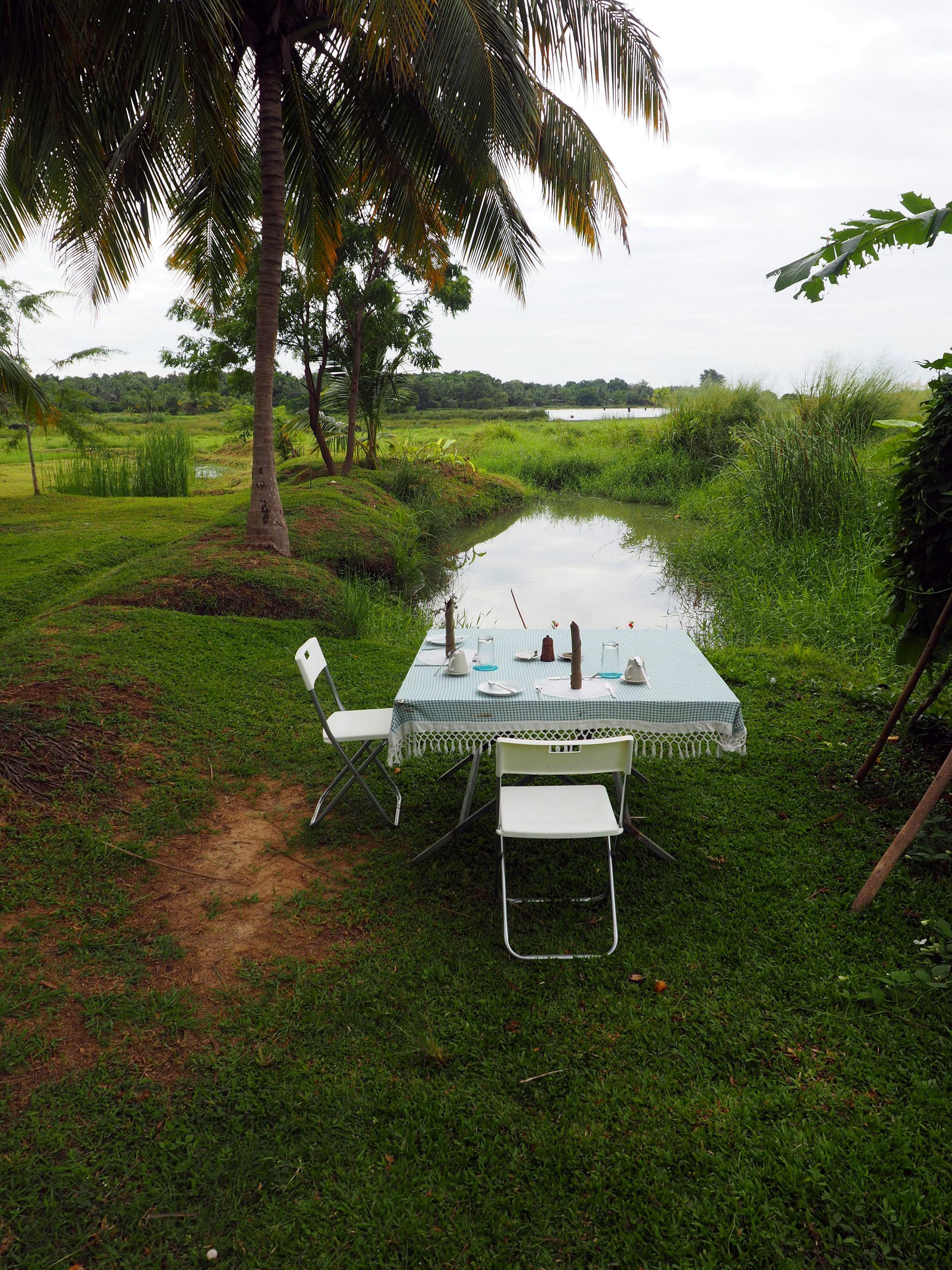 Breakfast table at Master Campers Udawalawe