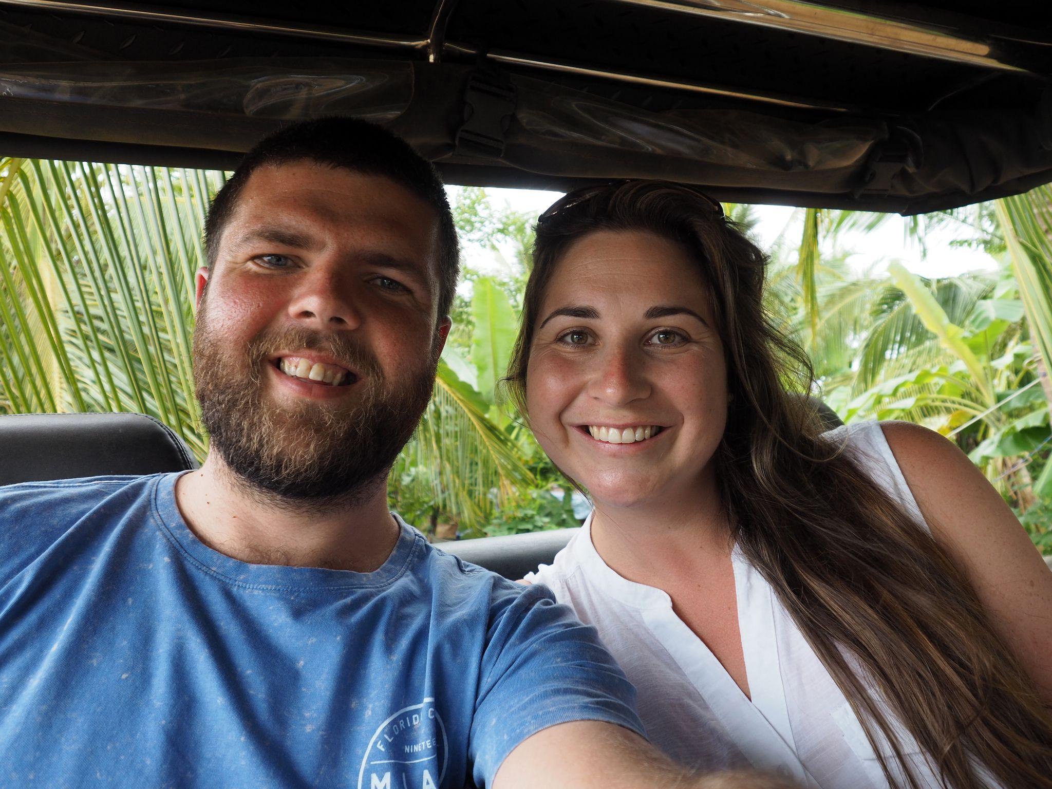 Couple on safari with Master Campers Udawalawe