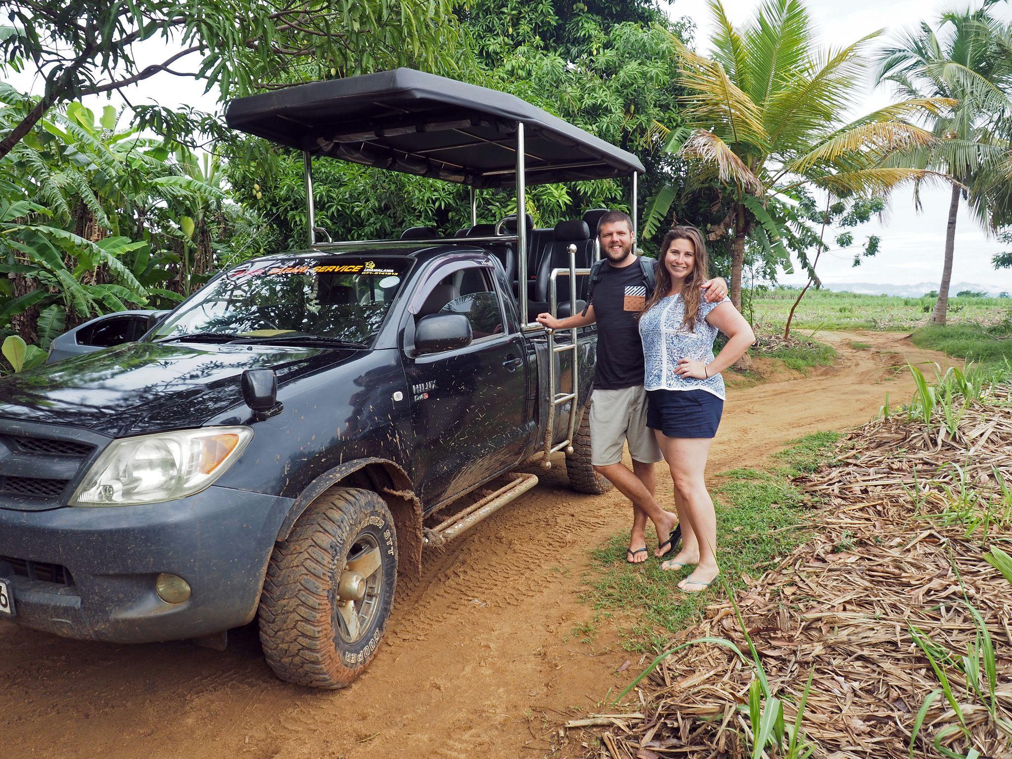 Couple with Master Campers Udawalawe Safari Vehicle