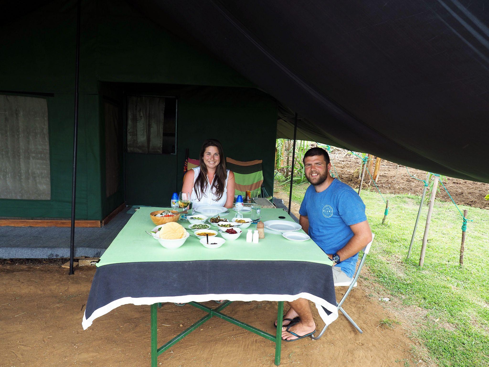 Dining at Master Campers Udawalawe
