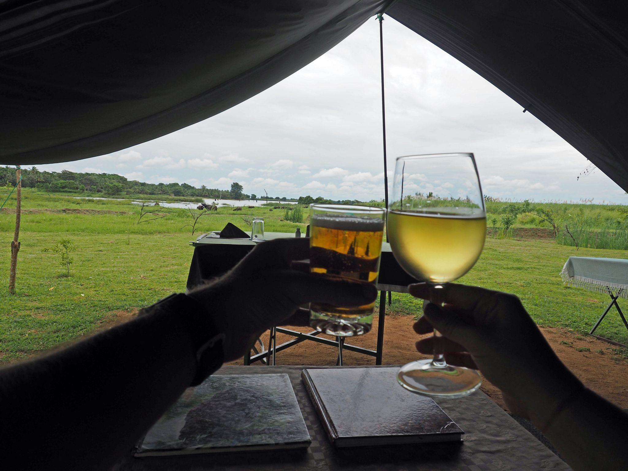 Drinks at Master Campers Udawalawe