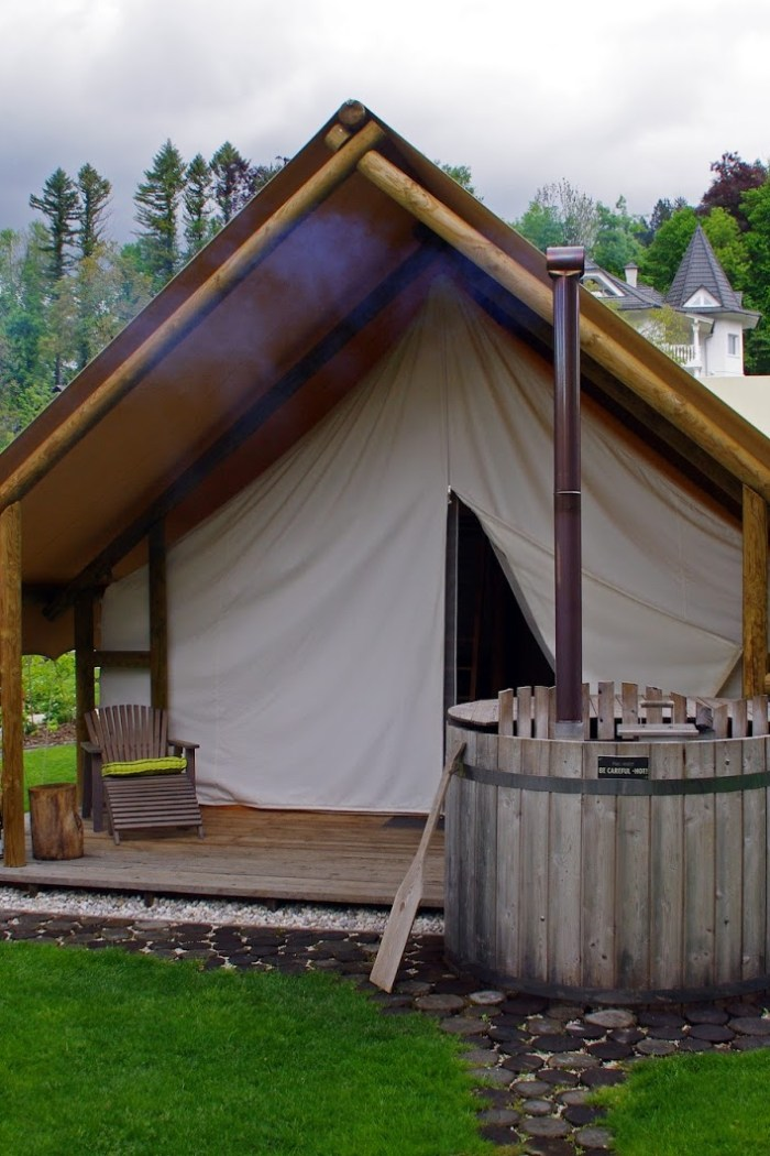 Glamping in Slovenia at Garden Village Bled