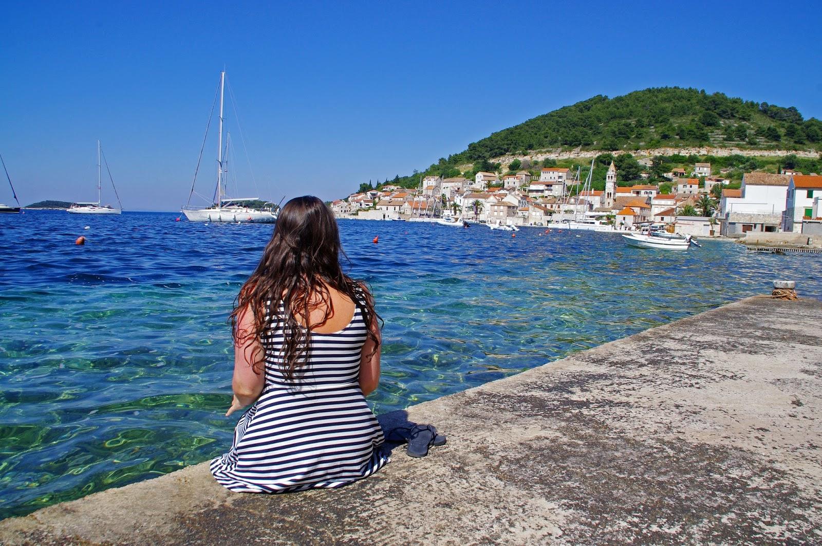 Girl in Vis Croatia