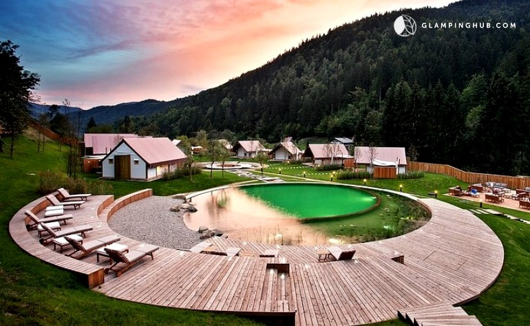 Tented cabins in Slovenia