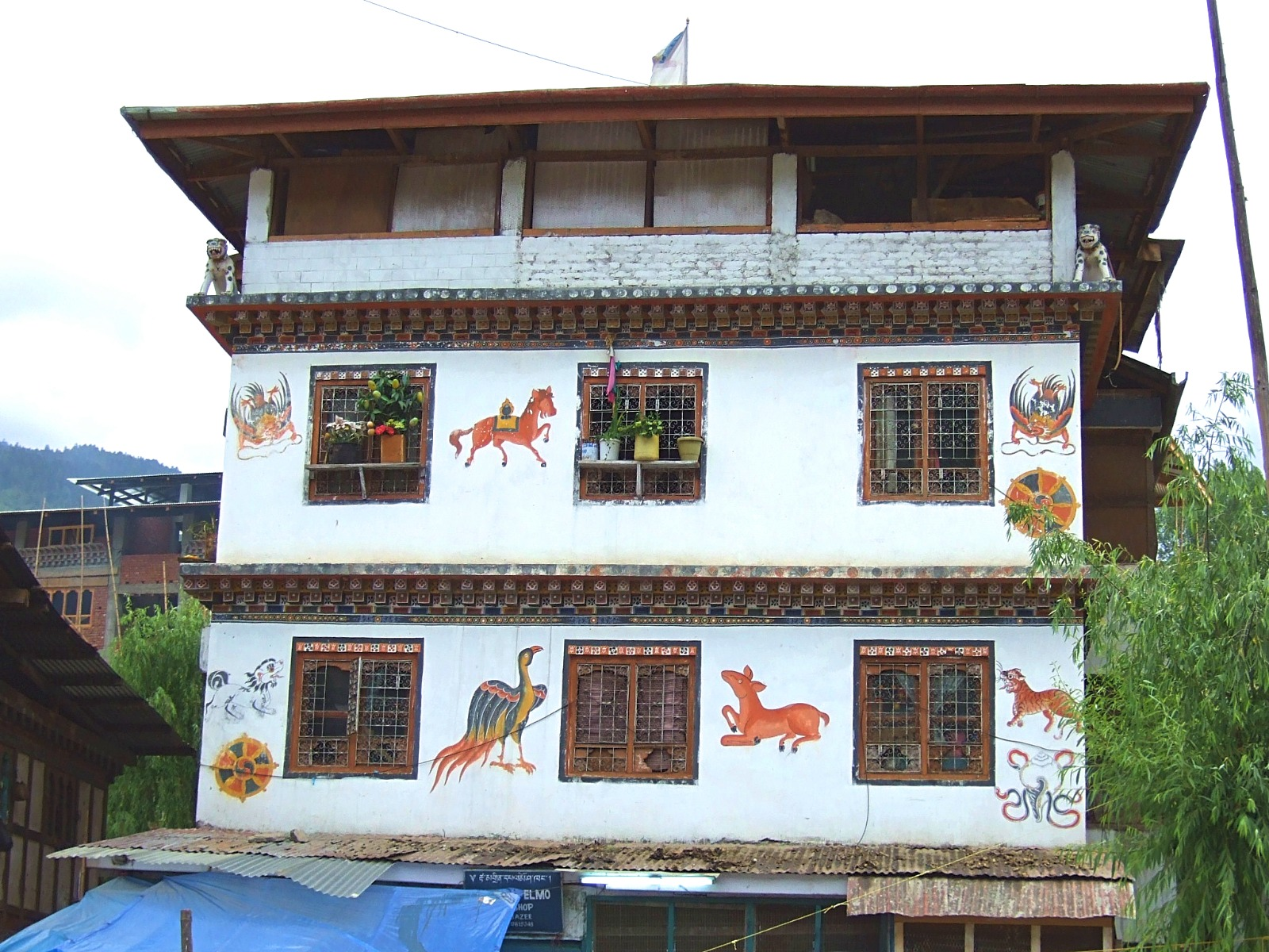 A typical Bhutanese house