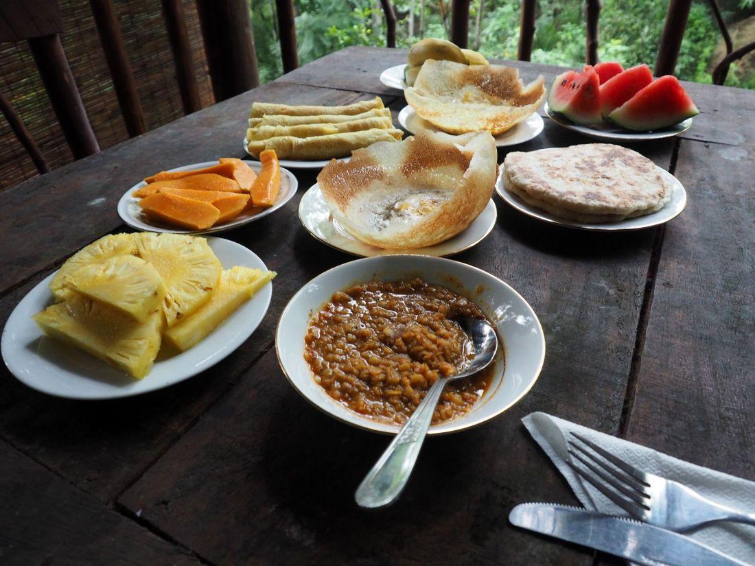Breakfast Ella Ecolodge Sri Lanka