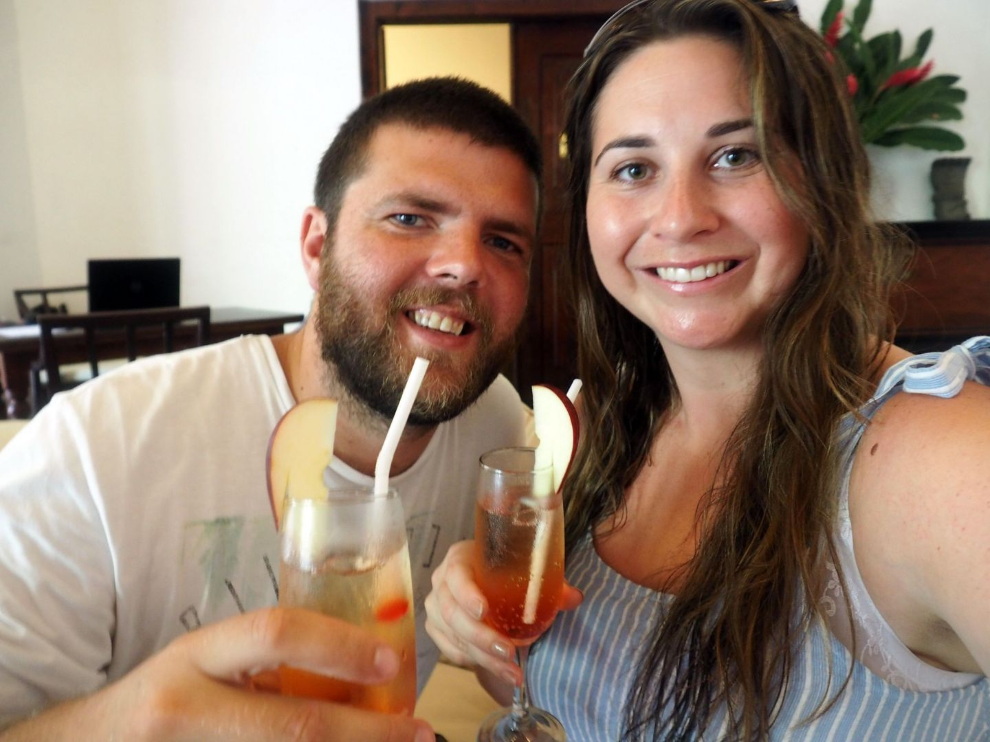 Couple on honeymoon at Galle Fort Hotel