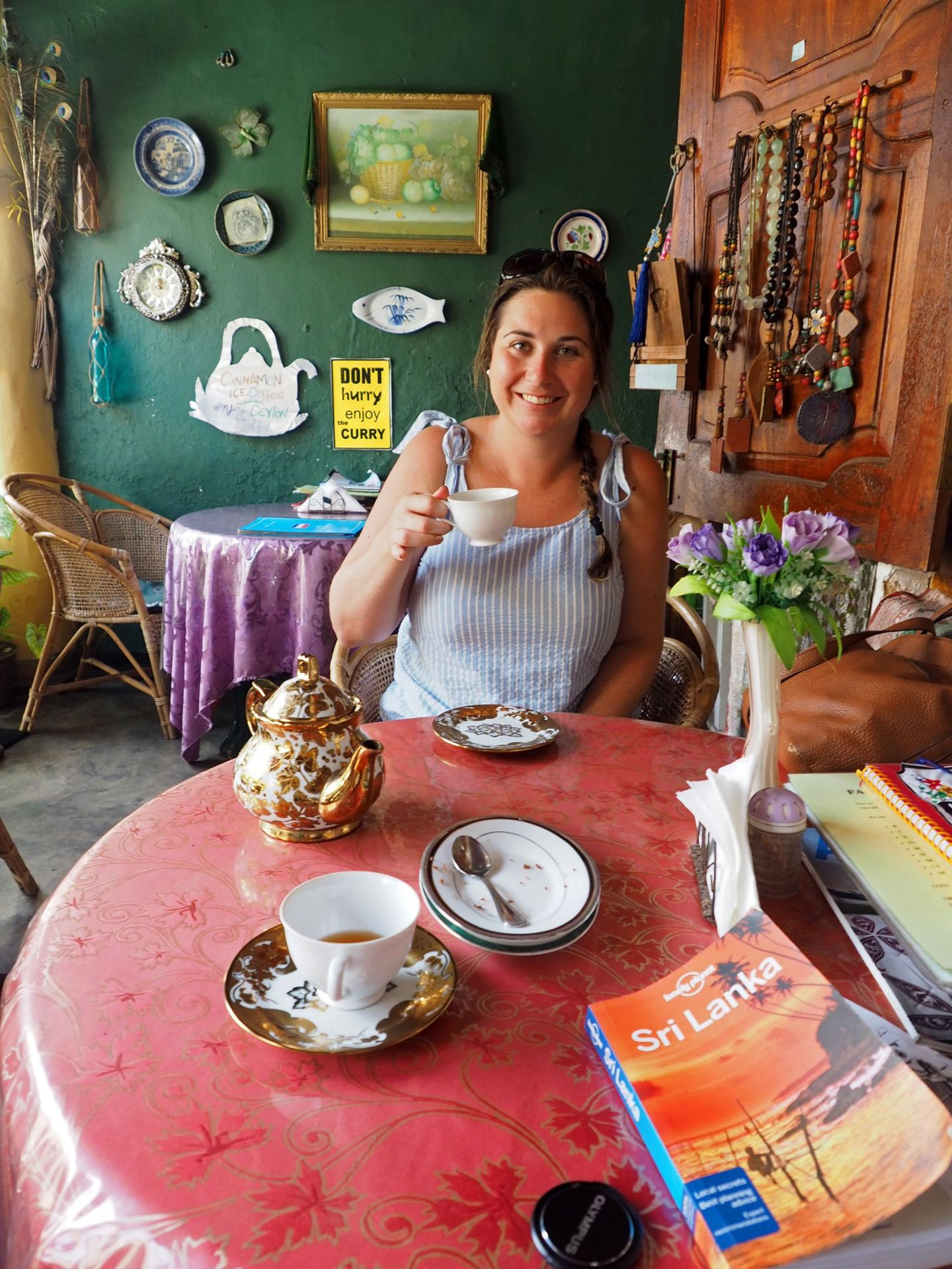 Girl in Royal Dutch Cafe Galle