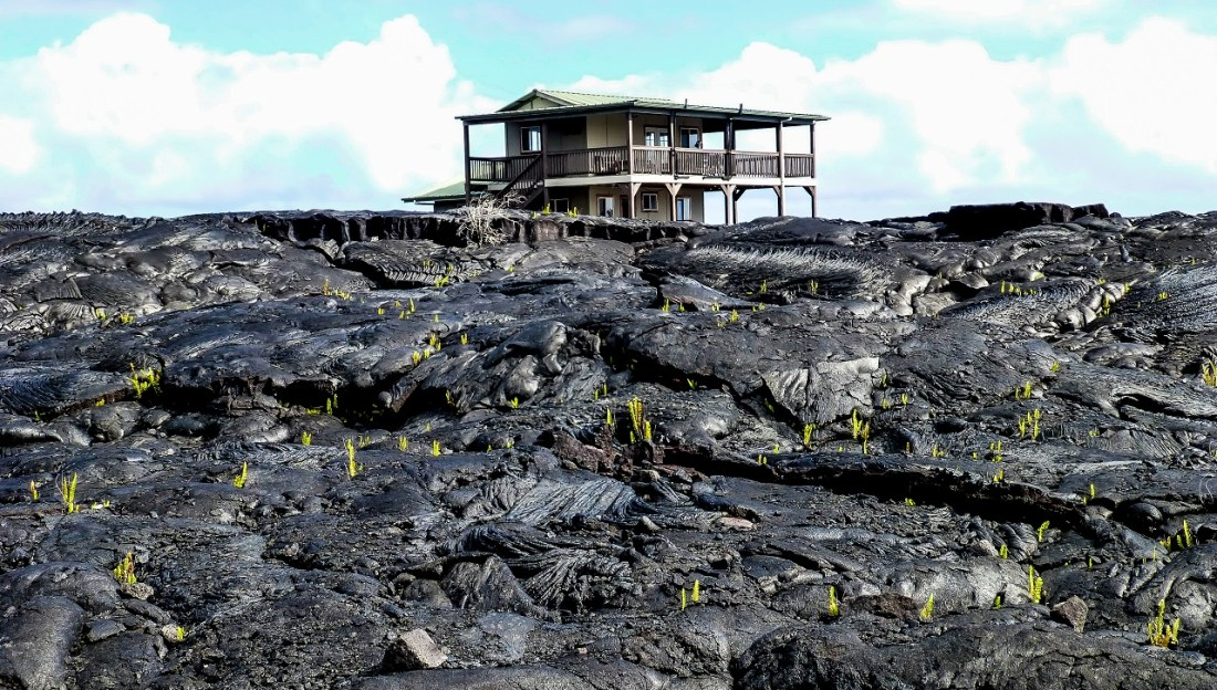 Lava rock site, the Big Island