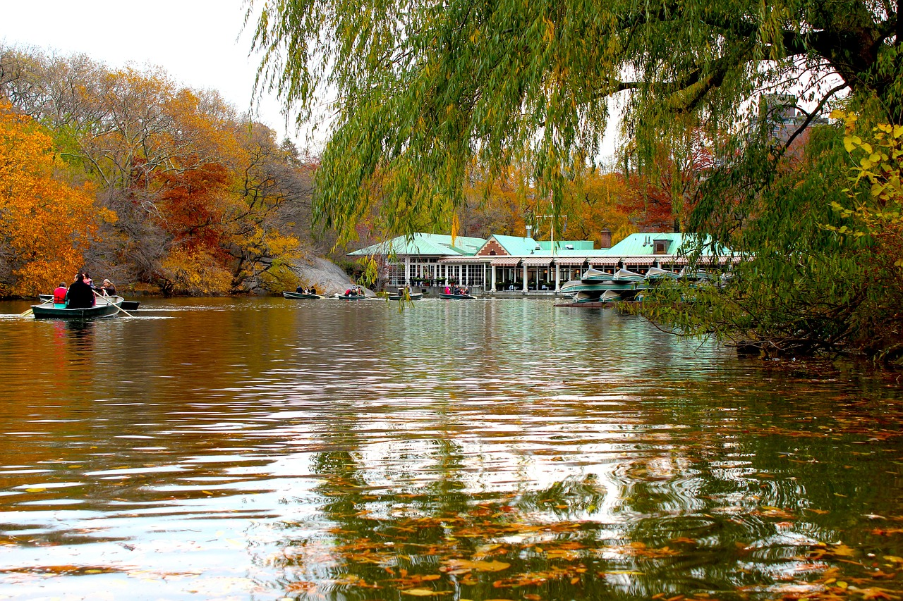 Central Park boats at Autumn