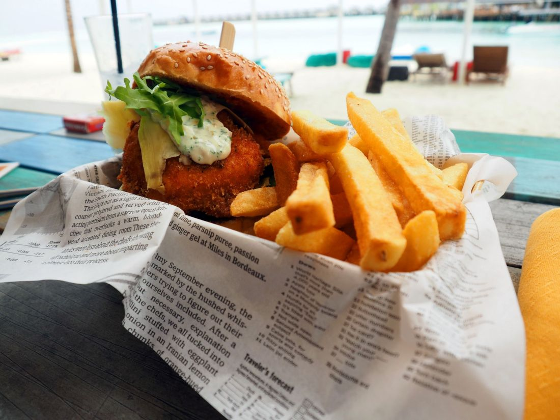 Chicken Burger LUX Maldives