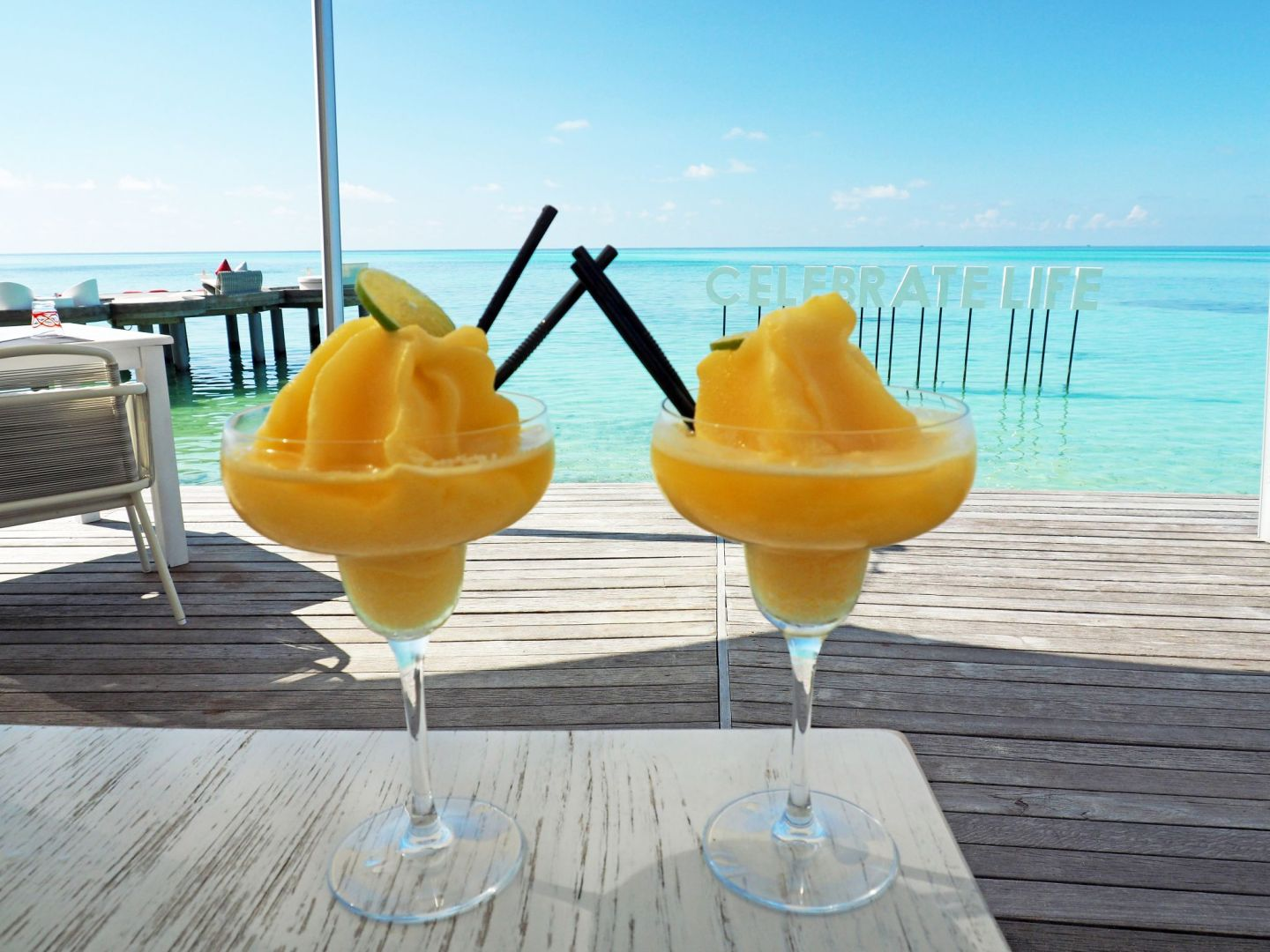 Cocktails at LUX Maldives