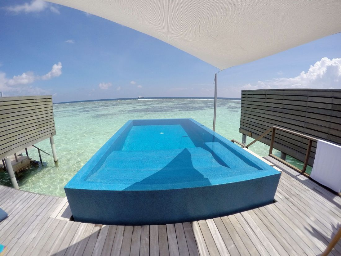 Infinity Pool LUX Maldives Romantic pool water villa