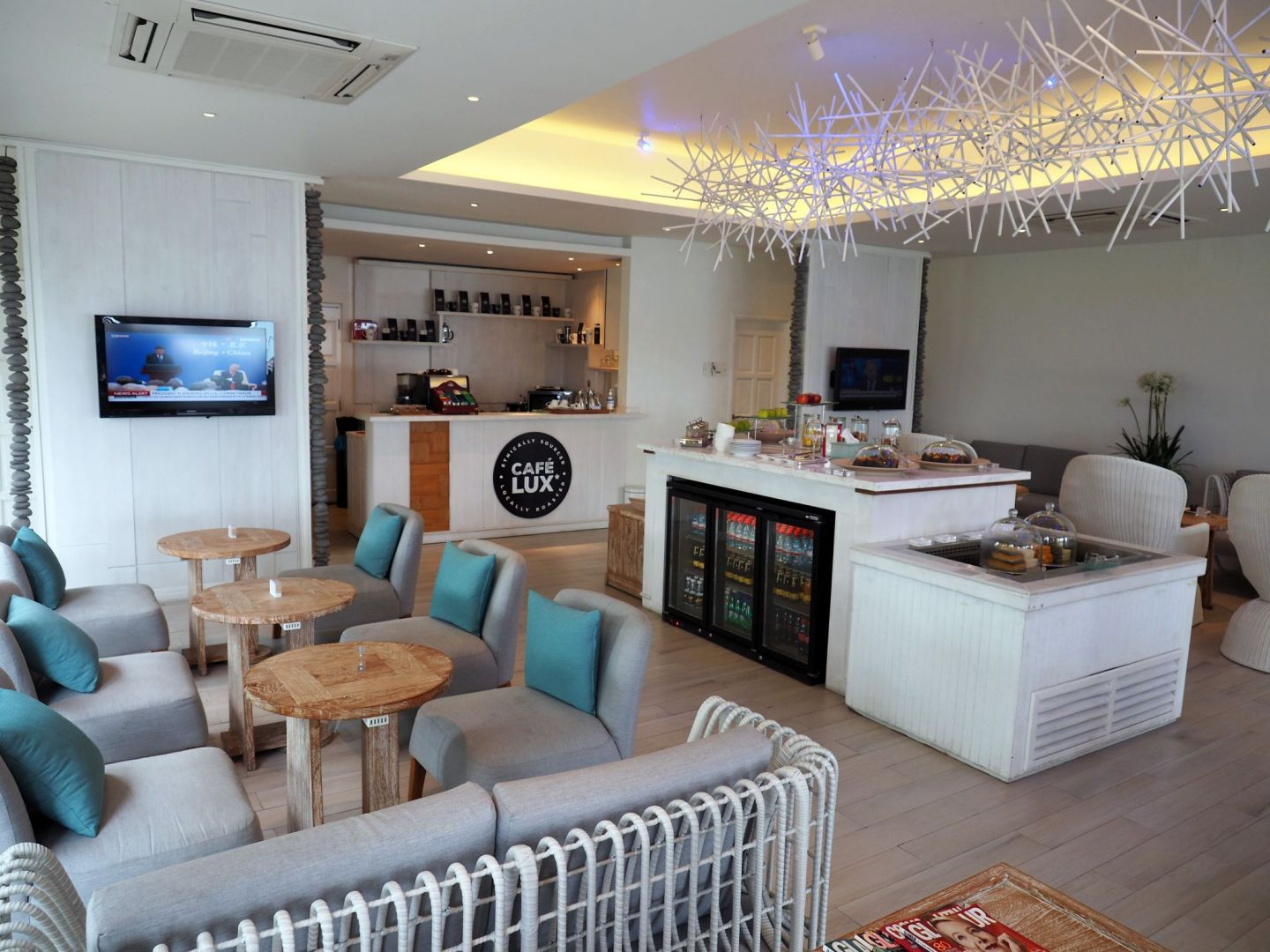 Inside LUX Seaplane Lounge