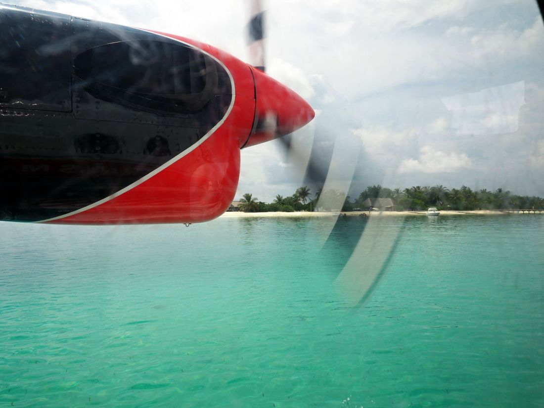 Landing at LUX South Ari Atoll