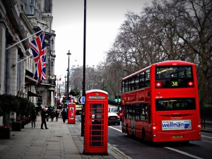 London Red Phone Booth and Double Decker Bus
