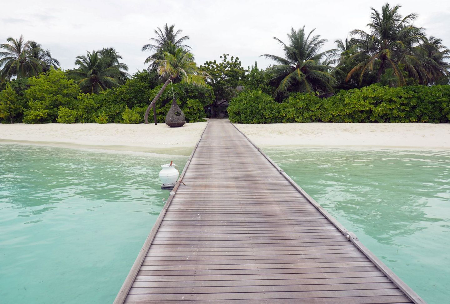 Walkway to Island in Maldives