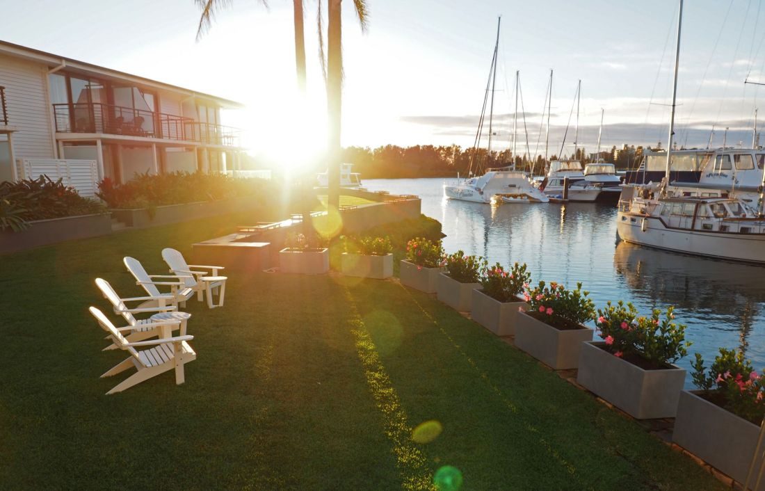 Stunning hotel grounds and marina views Sails Port Macquarie