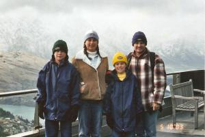Young family in Queenstown New Zealand