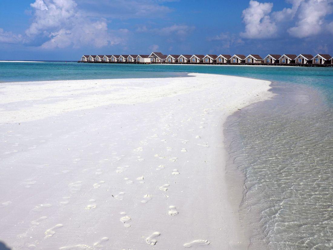 Beautiful sandbar in Maldives
