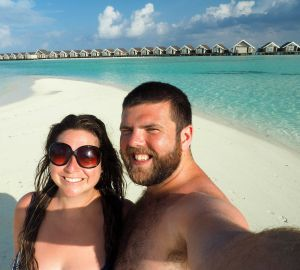 Couple on Honeymoon at LUX Maldives