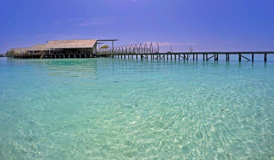 Overwater restaurant Maldives