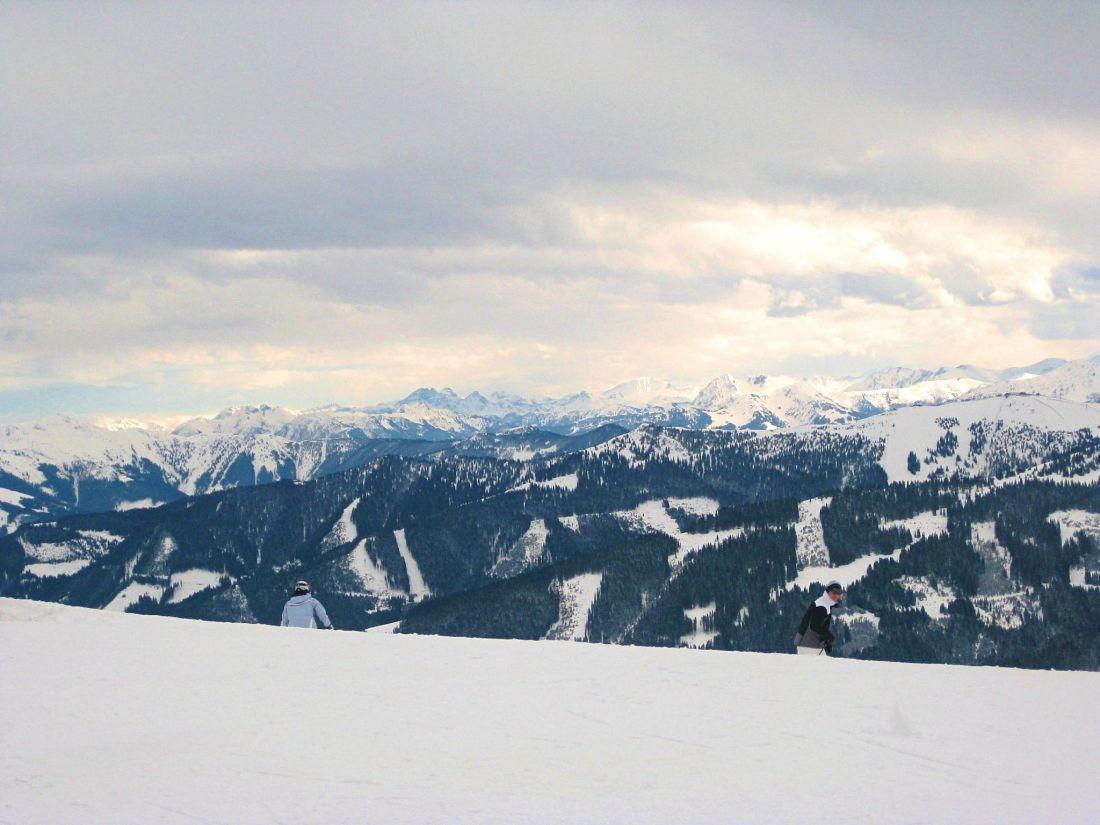 Saalbach winter view