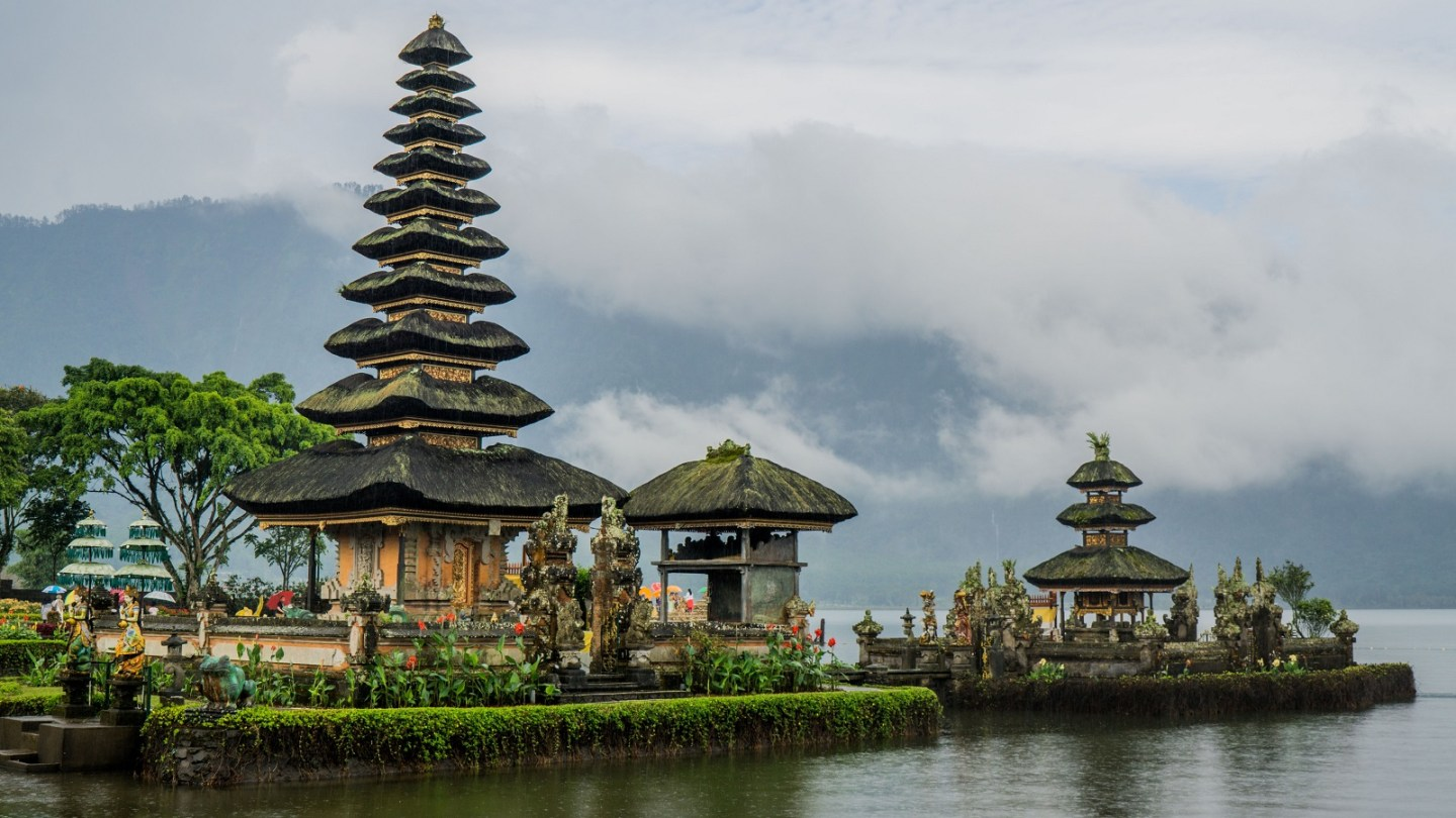 Temple on water in Bali