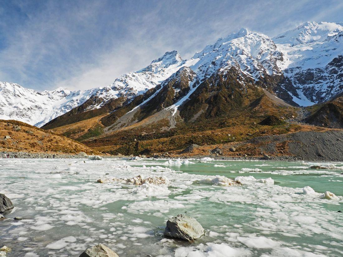 Glacier Lake Mount Cook