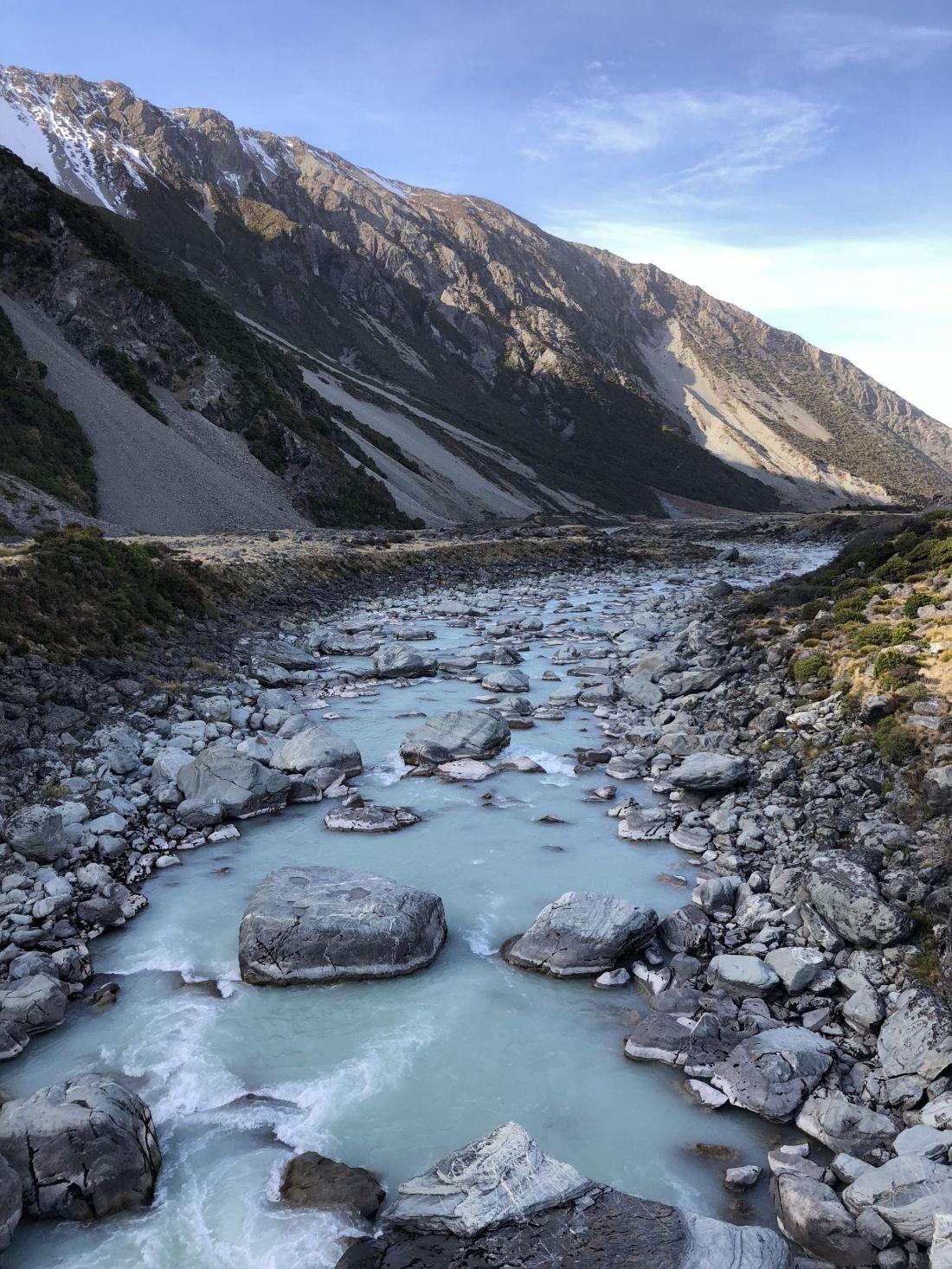 Hooker Valley Glacial Stream