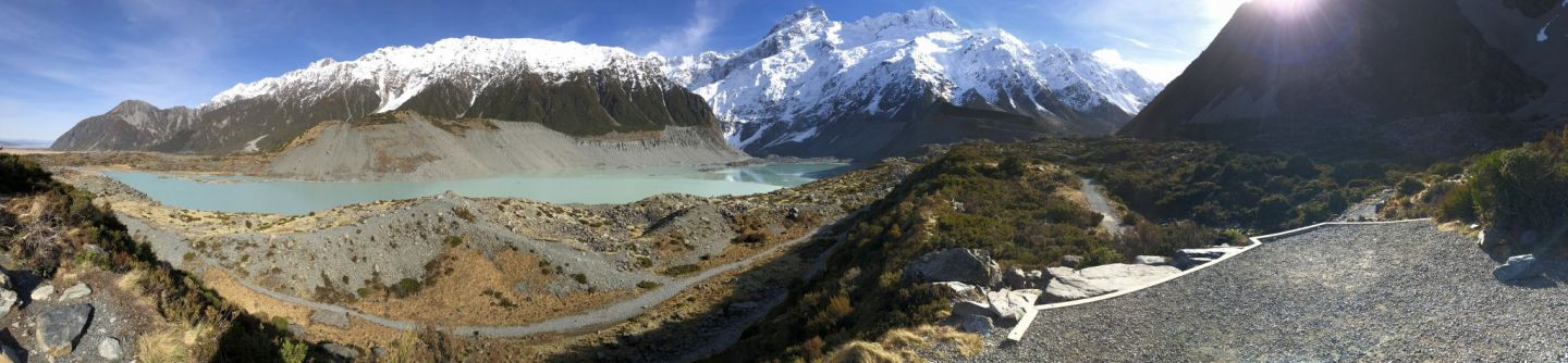 Hooker Valley Track Panorama