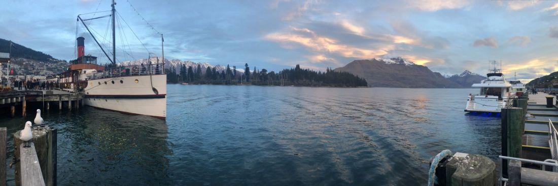 Lake Wakatipu at dusk