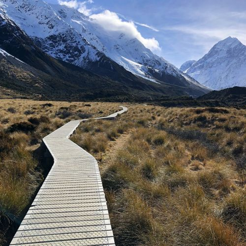 Path along Hooker Valley