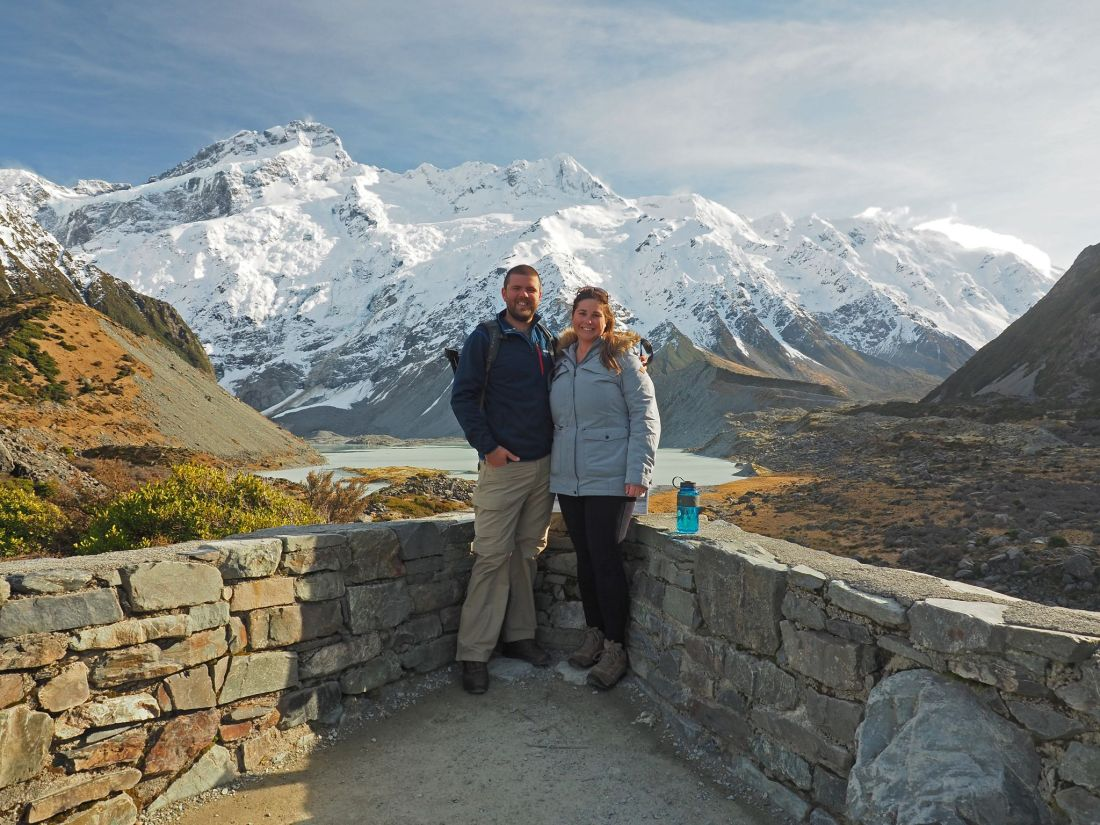 Simone and Dan at Hooker Valley Track