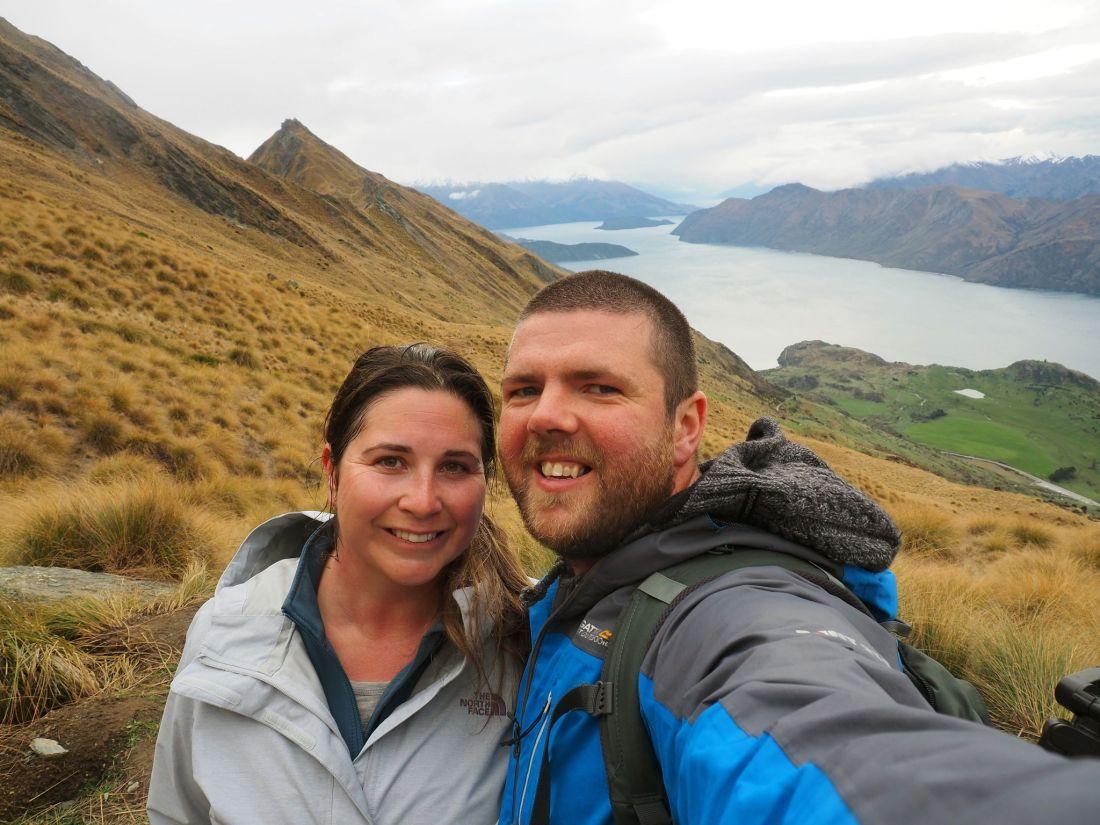 Simone and Dan on Roys Peak Hike