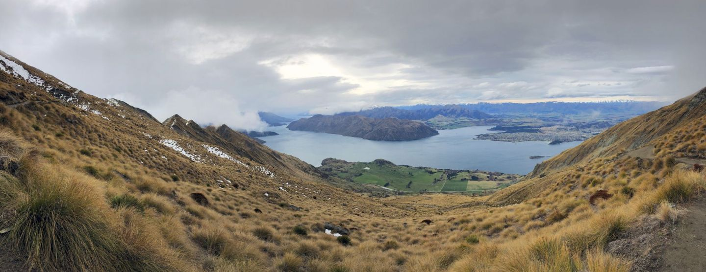 Stunning views of Wanaka from Roys Peak Hike