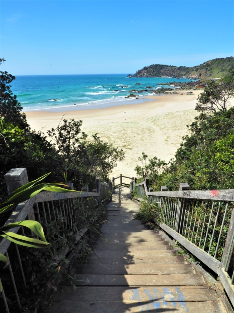 Stairs to Miners Beach Port Macquarie