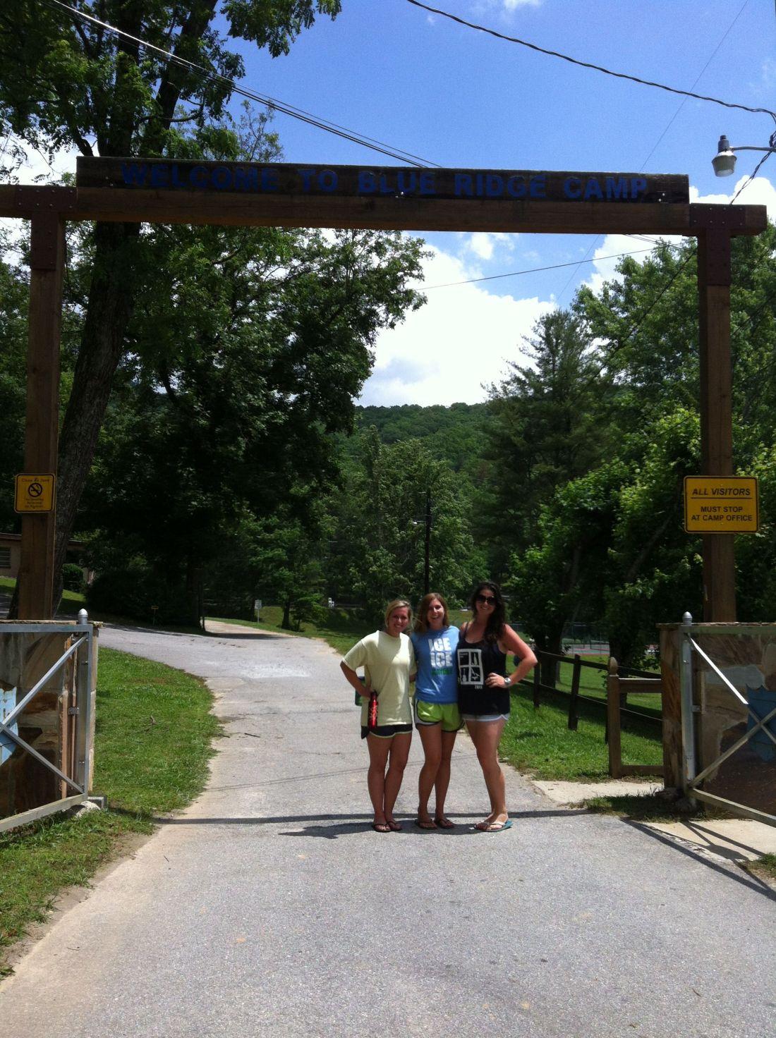 Girls at Camp Sign