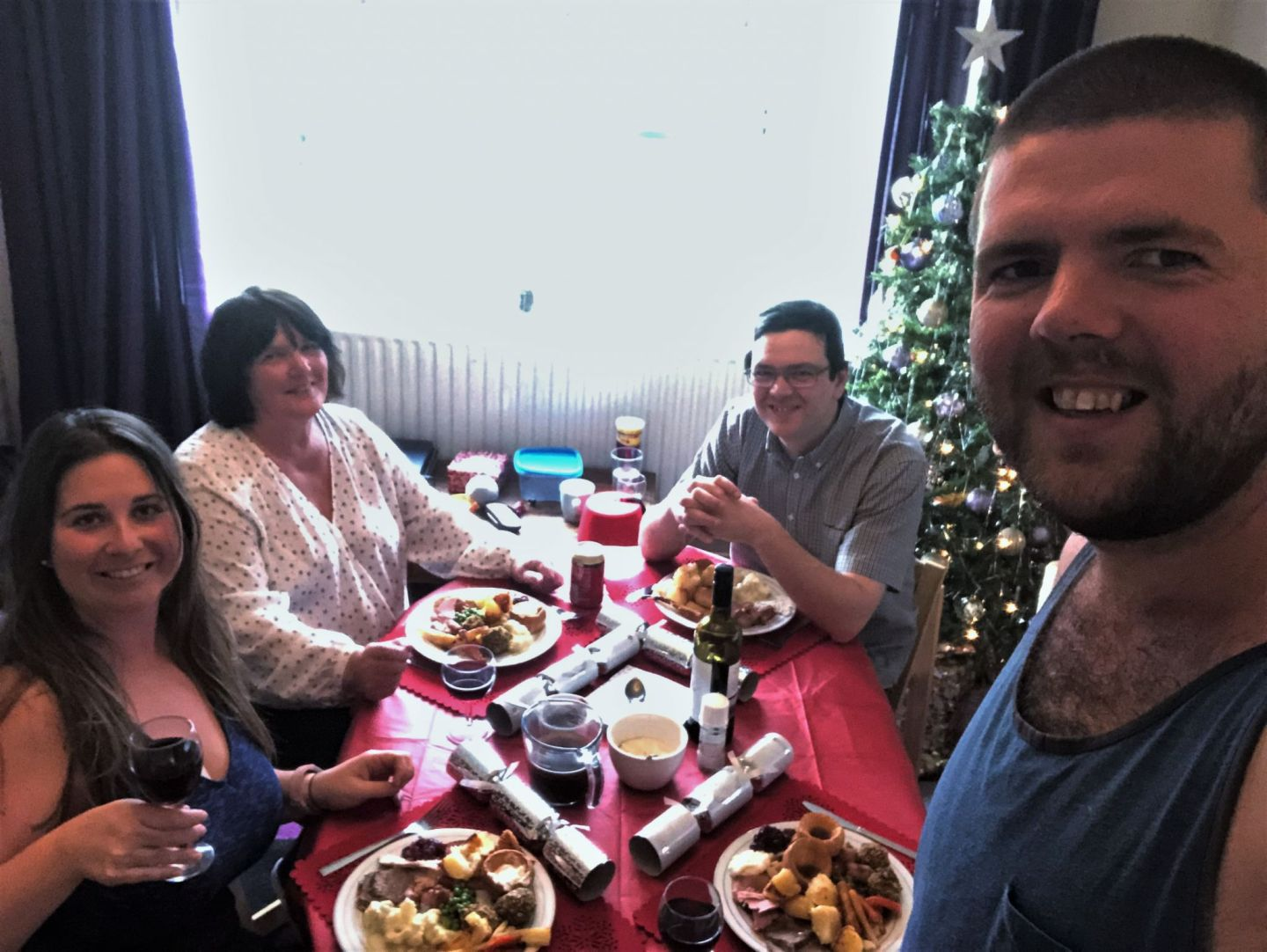 Christmas lunch with family