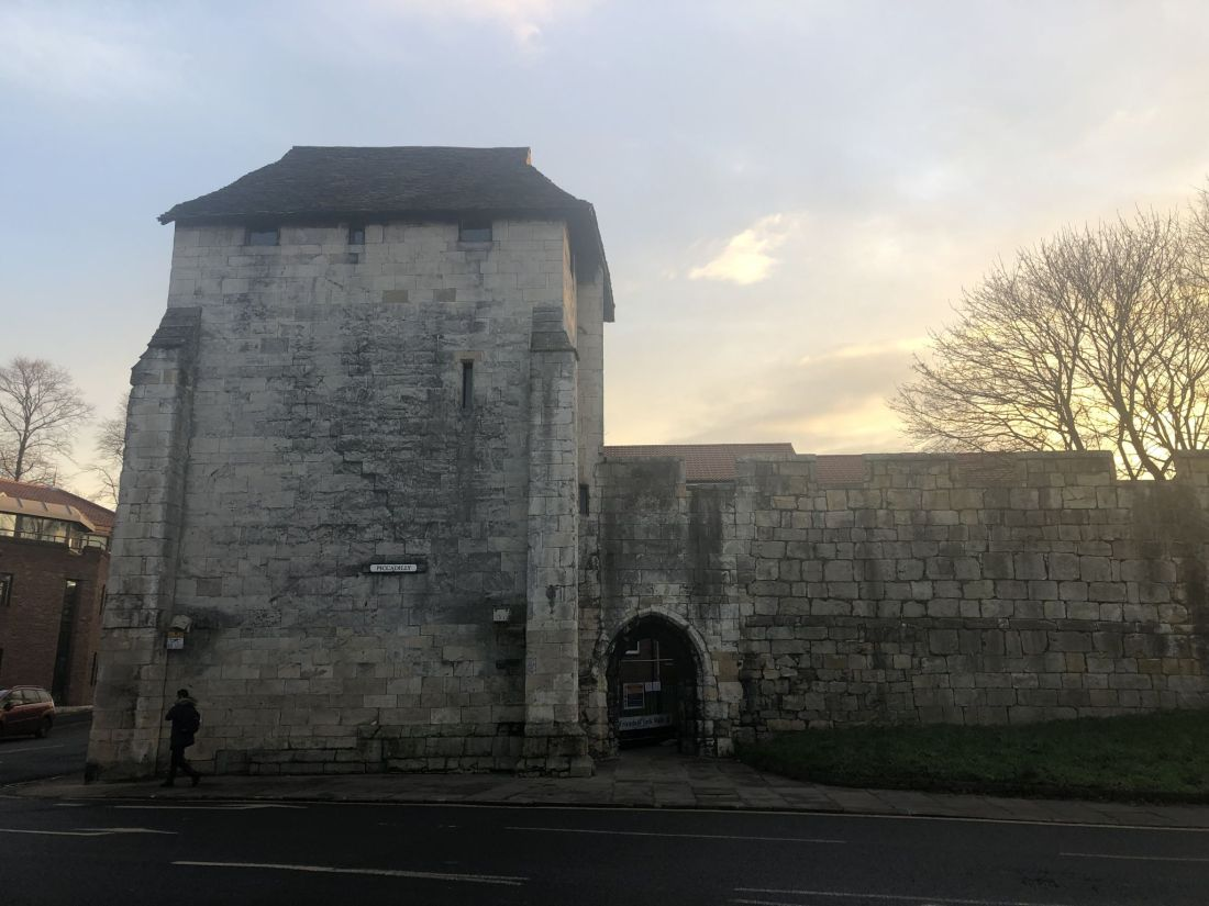 Exterior of York City Walls
