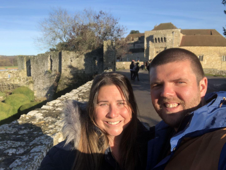 Simone and Dan at Leeds Castle