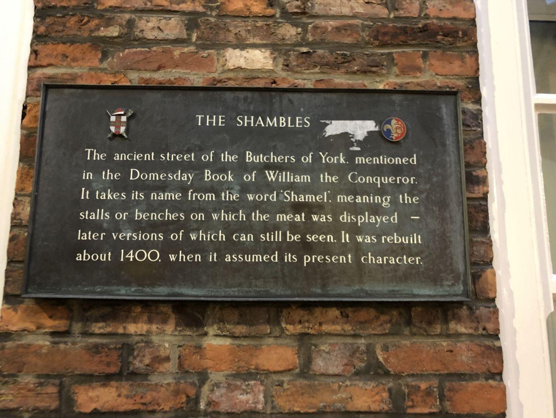 The Shambles Sign