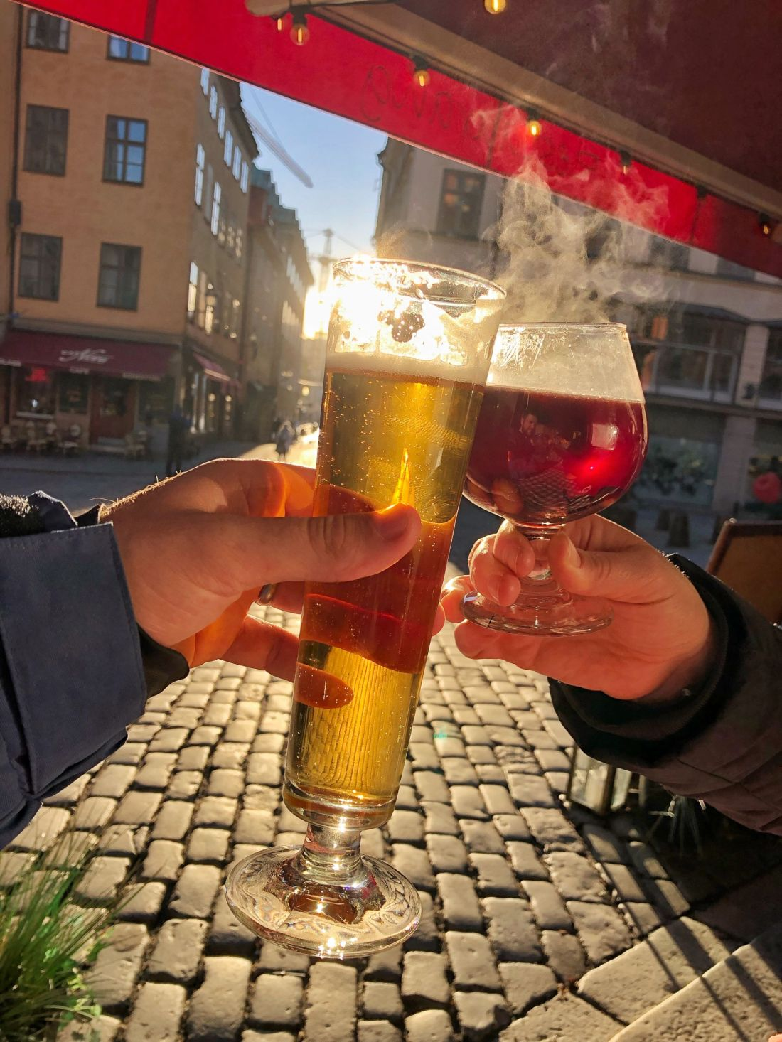 Beer and mulled wine in Stockholm