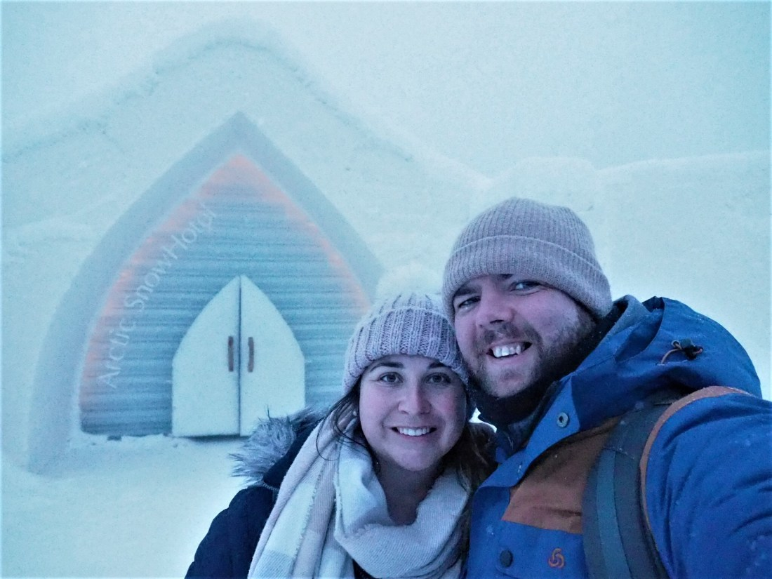 Simone and Dan at Arctic SnowHotel Rovaniemi