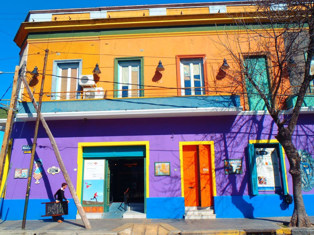 Colourful houses La Boca