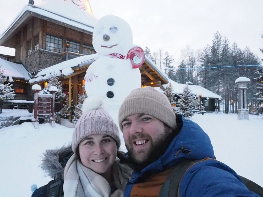 Couple at Santa Claus Village Rovaniemi