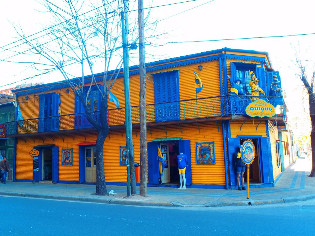La Bombonera Decorated Building