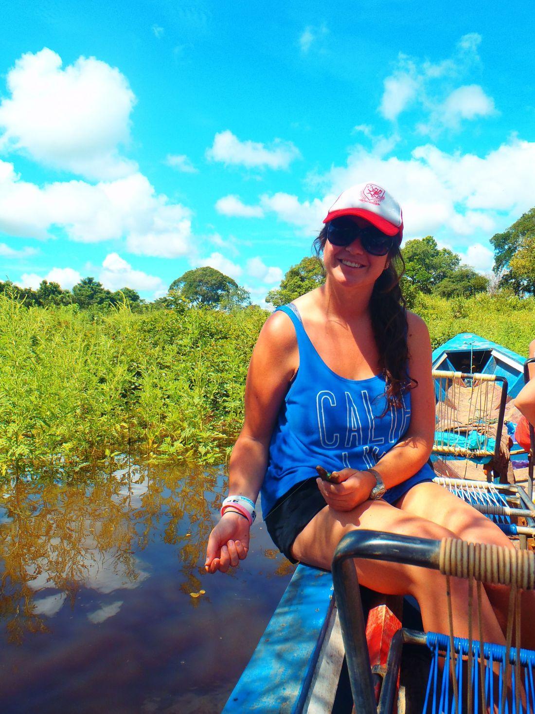 Simone Pirahna fishing in Amazon