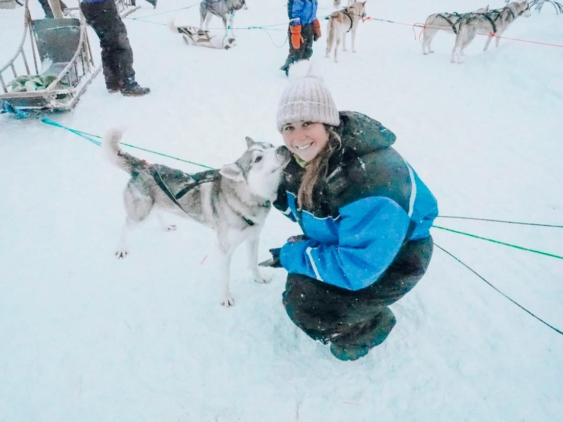 Simone with Husky at Bearhill Husky